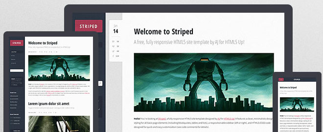 striped-html5-template