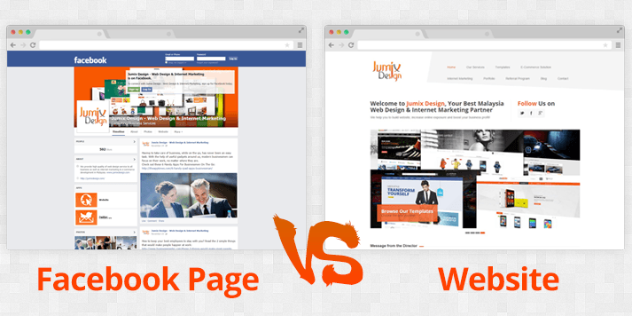 Is Facebook Page Enough for Your Business? Website VS Facebook Page