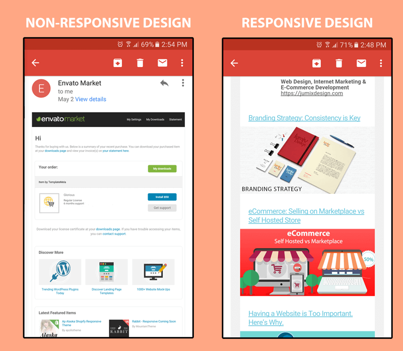 email-marketing-responsive-design-and-non-responsive