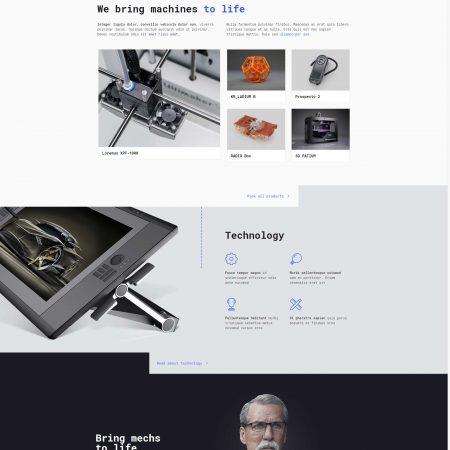corporate-website-template-technics