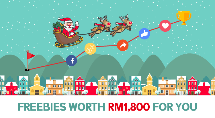 Christmas Surprise! Freebies Worth RM1,800 For You!