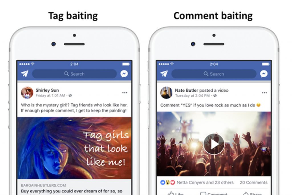 Engagement baits - Facebook Algorithm Changes